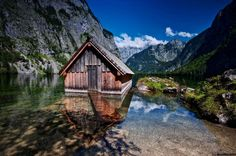 Schönau am Königssee, Bavaria, Germany The settlement is surrounded with the Watzmann mountain, that is part of the Bavarian Alps, and gorgeous Königssee lake. The fascinating nature defines Schönau's dramatic landscape. The municipality is one of the most famous tourist spots in the region.