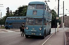 Trolley-bus. Walsall Corporation (ex Ipswich) Park Royal bodied Sunbeam F4 351,