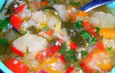 Thick Cabbage Soup With Millet Gruel (Щи густые с пшённой кашей)
