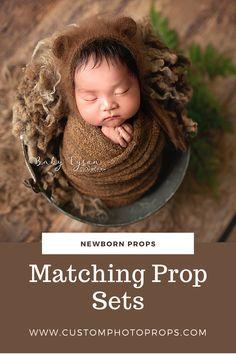 3PC//Set Newborn Photography Prop Infant Cap+Wrap+Pillow Sleepy Set Shoot Costume