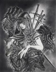 Page of Swords by Chelsea Brown Nice Art Dark Fantasy, Fantasy Art, Page Of Swords, Chalk Hill, Chelsea Brown, Inspirational Artwork, Art Pages, Cool Art, Nice Art
