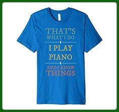 Mens I Play Piano And I Know Things Vintage Retro Pianist Shirt  Small Royal Blue - Retro shirts (*Amazon Partner-Link)