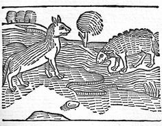 Illustration from The Fables of Aesop, printed by William Caxton in 1484