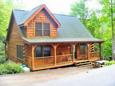 Nestled Inn is a  beautifully decorated, private custom log cabin. Has a fully equipped kitchen, satellite TV, VCR, DVD, stone fireplace, open living room , covered deck with hot tub,and  rocking chairs on the deck to enjoy the peaceful surroundings of the Smoky Mountains.If a luxury getaway is what you need, make plans now to stay in this custom built log home,