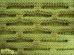 Knit Honeycomb stitch pattern