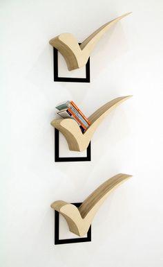 36 Simple Bookshelf for Your Modern Home Decor - Bücherregal Dekor Simple Bookshelf, Creative Bookshelves, Unique Shelves, Bookshelf Design, Bookshelf Ideas, Shelving Ideas, Crate Bookshelf, Bookshelf Plans, Bookshelf Decorating