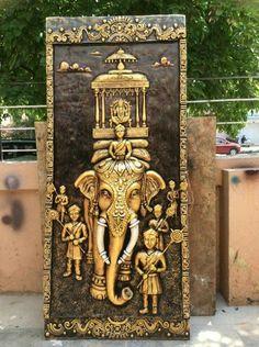 Clay Wall Art, Mural Wall Art, Mural Painting, Paintings, Tanjore Painting, Krishna Painting, Clay Art Projects, Indian Folk Art, India Art