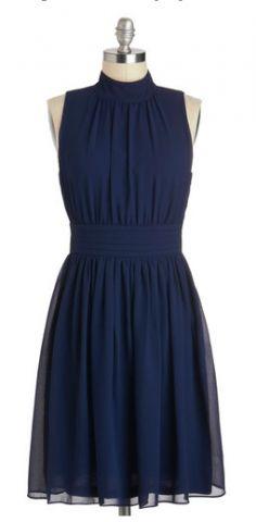 High neck, navy dress.  https://www.thebridelink.com/vendor/mod-cloth/photos