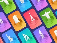 Concept - Card view for most visited locations (Freebie) designed by Rohit Mondal. Connect with them on Dribbble; the global community for designers and creative professionals. Sketch Design, App Design, Icon Design, Free Design, Travel Icon, New Travel, Shopping Travel, Toilet Paper Crafts, Diy 3d
