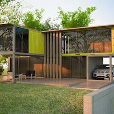 Next Container - Palermo 90 door Next Container Building A Container Home, Container Buildings, Container Architecture, Shipping Container Home Designs, Container House Design, Palermo, Compact House, Casas Containers, Modern Architecture