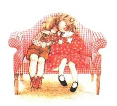 Holly Hobbie : Love is meant to be shared. Sarah Kay, Holly Hobbie, Toot & Puddle, Vintage Illustration, Applique Pillows, Dibujos Cute, American Greetings, Little People, Childhood Memories