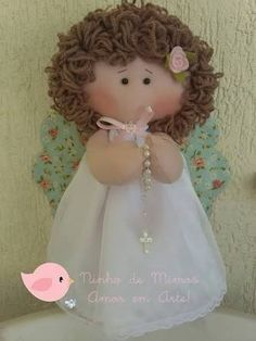 Find parts of your perfect world on Indulgy, keep them for yourself, and share to others. Fabric Doll Pattern, Fabric Dolls, Christmas Angels, Christmas Crafts, Handmade Crafts, Diy And Crafts, Ann Doll, Felt Fairy, Angel Crafts