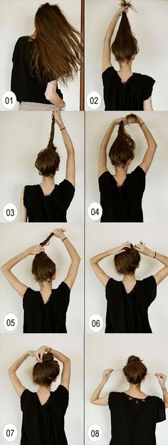 This bun is easy and fast to make. It also gives you those gorgeous salon curls after you take your hair out of the bun. Believe me, I've tried this twice.