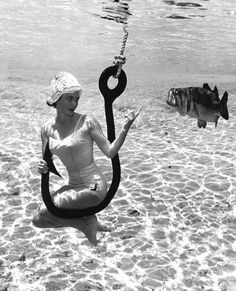1930s, anchor, art, bait, beauty, black and white