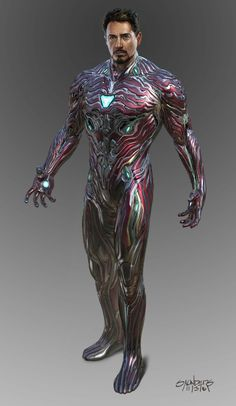 Avengers: Infinity War Concept Art - Iron Man Mk 50 suit-up sequence by Phil Saunders * Iron Man Mk 50 suit-up sequence. Stage one: Original undersuit (design by Josh Nizzi.) The nanotech was intended to flow out from the main RT in the chest as well. Poster Superman, Posters Batman, Poster Marvel, Batman Vs, Marvel Comics, Marvel Heroes, Marvel Avengers, Captain Marvel, Captain America