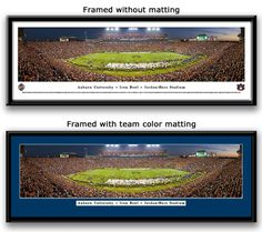 Auburn 2013 Iron Bowl Framed Panoramic Picture