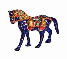 #SouvNear #Blue #Horse #Statue - Hand Painted White #Metal Stallion Horse #Figurine - #Handmade with Meenakari Work - #Unique and Decorative Office & Home Decor #Sculpture SouvNear http://www.amazon.com/dp/B00UFQESD4/ref=cm_sw_r_pi_dp_2Yqdwb0Z1D7FD