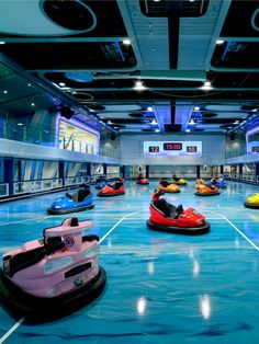 The first bumper cars at sea: Brought to you by Royal Caribbean.