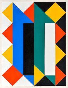 Paul Osipow Born 1939 • COMPOSITION. (d) • Sign. -90. Acrylic on cardboard 59x46 cm.