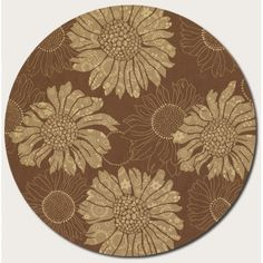 Couristan Covington Topeka Cocoa Contemporary Round Rug - 21978022710710N