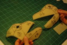 How to pattern foam costumes from smaller items such as toy figures.