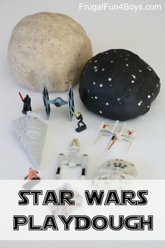 Star Wars Play Dough Imaginative Play!  How to make sand dough (Tatooine), snow dough (Hoth), and black galaxy dough.  Perfect for pretend play with Star Wars micro machines!