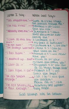 "God's responses (Bible verses) to ""what I say"" God Quotes Hard Times, Quotes About God, Bible Verses Quotes, Bible Scriptures, Faith Quotes, Bible Quotes For Teens, Scriptures About Love, Bible Verses For Girls, Bible Verse Tattoos"
