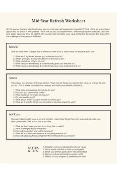 This collection of worksheets will help you become intentional in how you navigate your journey towards a life of clarity & reaching goals. Living intentionally means coming into awareness of how your past brought you to your present position and referencing that towards creating a future that aligns with your purpose. Goal Journal, Bullet Journal, Self Thought, Therapy Journal, Journal Writing Prompts, New Year Goals, Manifestation Journal, Self Assessment, Self Awareness