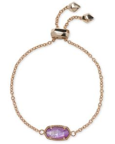 6a0faac3262b2 Kendra Scott Elaina Chain Bracelet in Lilac Mother of Pearl. Rose Gold ...