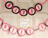 """Are you planning a Sweet 16? This banner set was created for a special lady turning 16! She loved all things Zebra and PINK! :) This Banner set is customizable. It can also be created to just say """"Happy Birthday"""" the choice is up to you. Contact Whimsical Zee for custom pricing Custom Birthday Banners, Event Banner, Party Stores, Sweet 16, Turning, Whimsical, Art Pieces, Happy Birthday, How To Plan"""