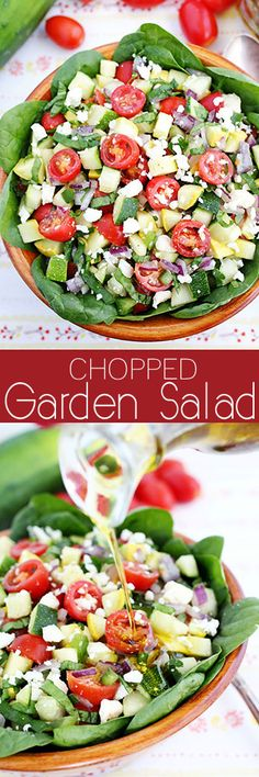 Chopped Garden Salad with Balsamic Dressing