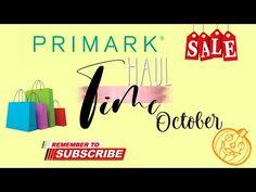 Primark Haul/October 2020 - YouTube Primark Sale, The Creator, Channel, October, Advertising, Youtube, Instagram, Youtubers, Youtube Movies