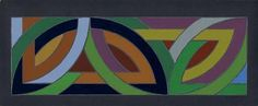 Early Frank Stella - I prefer this to some of his later work - it is cleaner, more hard-edged