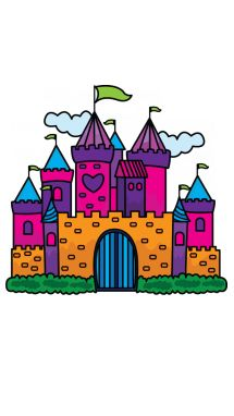 How to Draw a Princess Castle for Kids Step-by-Step