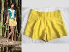 "CARTONNIER ANTHROPOLOGIE ""WALKABOUT"" FLIRTY & FEMME!!! POCKET DRESS SHORTS 2 #CARTONNIER #CasualDressShorts"