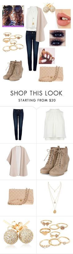 """""""Cute Outfit For Winter"""" by sunny-1010 ❤ liked on Polyvore featuring beauty, Anine Bing, MANGO, Chanel, Loushelou, Mudd and Charlotte Tilbury"""