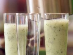 Sweet Basil Smoothie - Giada at Home (use stevia instead of sugar in the simple syrup)