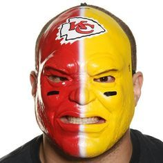 kansas city chiefs fan mask for halloween