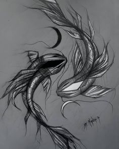 Koi fish😍 Do you like it? ☯️ 🌙My next drawing is gonna be a portrait of Ariana Grande💓 · · Koi Fish Drawing, Fish Drawings, Tattoo Design Drawings, Tattoo Designs, 3d Tattoos For Men, Body Art Tattoos, Small Tattoos, Tatoos, Japanese Fish Tattoo