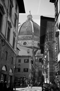 Duomo Florence Art Photography Black and White by BankoFineArt