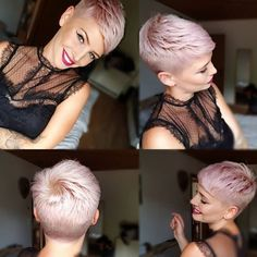 Today cut my hair a bit. A but perfect as always. Short Pixie Haircuts, Cool Haircuts, Pixie Hairstyles, Cute Hairstyles, Short Hair Cuts, Short Hair Styles, Undercut Pixie Haircut, Cut My Hair, Hair A
