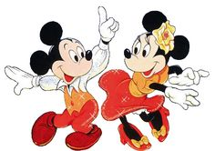 Disco Mickey & Minnie Mouse