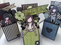 Creative Happiness: How addictive!..Gorjuss Girl Pop up Box cards!