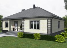 Small House Layout, Small House Design, House Layouts, Beautiful House Plans, Dream House Plans, Beautiful Homes, Roof Trusses, Indian Homes, Red Roof