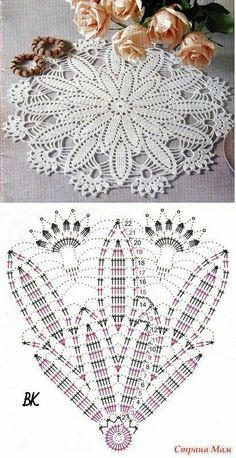 New Ideas For Crochet Rug Diagram Lace Doilies Crochet Doily Diagram, Crochet Doily Patterns, Crochet Chart, Filet Crochet, Crochet Designs, Mandala Crochet, Crochet Poncho, Tatting Patterns, Crochet Flowers