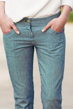 Railroad Stripe Cut Pant, from Emerson Fry's spring line... had a pair in highschool & miss them so hard!!! need another pair BAD