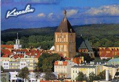 KOSZALIN Panorama miasta i widok na gotycką Katedrę Niepokalanego Poczęcia NMP  z lat 1300-1330