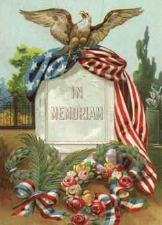 The Meaning of Memorial Day. Who are we Honoring on Memorial Day? When and Where the first Memorial Day was Observed. Memorial Day Flag, Happy Memorial Day, Patriotic Images, Patriotic Crafts, Patriotic Posters, Patriotic Decorations, Vintage Cards, Vintage Postcards, Vintage Images