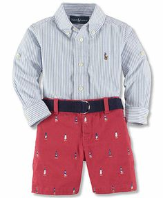 Polo Ralph Lauren Baby Boys' 2-Piece Shirt & Shorts Set