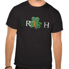 Irish Word In Flag Colors With Shamrock D1 T Shirt